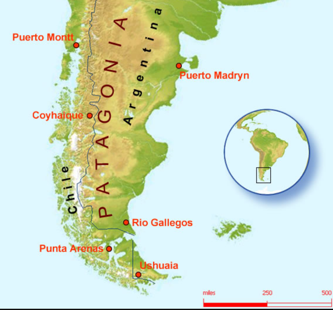 Patagonia Cartina Geografica.La Patagonia Cilena Da Backpacker Italian Volunteer